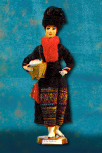 YAO WOMAN (Hand embroidered costume)