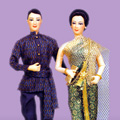 Modern Couple in Thai Evening Wear