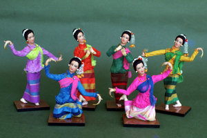 Finger-nail Dance Dancers (Northern Thailand)